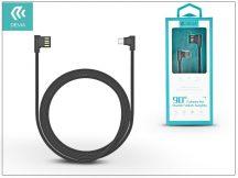 USB - USB Type-C adat- és töltőkábel 1 m-es vezetékkel - Devia King 90 Double Angled Cable for Type-C 2.0 - black