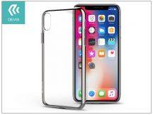 Apple iPhone X szilikon hátlap - Devia Glitter Soft - silver/transparent