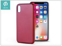 Apple iPhone X hátlap - Devia Ceo 2 - red