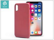 Apple iPhone X hátlap - Devia Nature - red