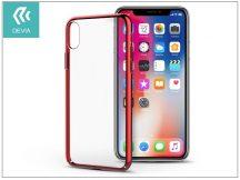 Apple iPhone X hátlap - Devia Glimmer - red/transparent