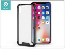 Apple iPhone X hátlap - Devia Shockproof - black/transparent