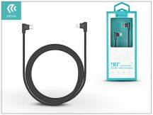 USB Type-C - Lightning adat- és töltőkábel 1 m-es vezetékkel - Devia King 90 Double Angled Cable Type-C 2.4 to Lightning - black