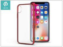 Apple iPhone X hátlap - Devia Luxurious - red/transparent