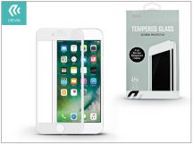 Apple iPhone 7 Plus/iPhone 8 Plus üveg képernyő- + Crystal hátlapvédő fólia - Devia Full Screen Tempered Glass 0.26 mm - 1 + 1 db/csomag - white