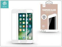 Apple iPhone 7 Plus/iPhone 8 Plus üveg képernyő- + Crystal hátlapvédő fólia - Devia Full Screen Tempered Glass 0.26 mm - Anti-Glare - 1 + 1 db/csomag - white