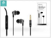 Devia univerzális sztereó felvevős fülhallgató - 3,5 mm jack - Devia Metal In-Ear Wired Earphones - black