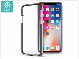 Apple iPhone X szilikon hátlap - Devia Fashion Shockproof - black/clear