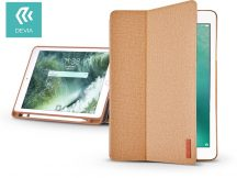 Apple iPad 9.7 (2018) védőtok (Smart Case) on/off funkcióval, Apple Pencil tartóval - Devia Ease - brown