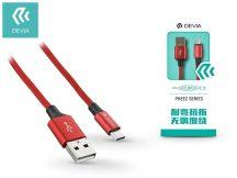 USB - micro USB adat- és töltőkábel 1 m-es vezetékkel - Devia Pheez USB 2.0 - red