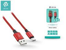 USB - USB Type-C adat- és töltőkábel 1 m-es vezetékkel - Devia Pheez USB Type-C 2.0 Cable - red