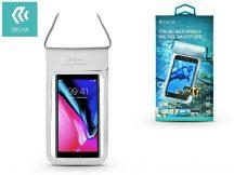 """Univerzális vízálló védőtok max. 5,8"""", méretű készülékekhez - Devia Strong Waterproof Bag - silver"""