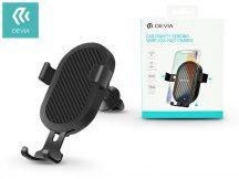 Devia szellőzőrácsba illeszthető vezeték nélküli autós töltő/tartó - 5V/1A - Devia Car Gravity Sensing Wireless Fast Charge - Qi szabványos