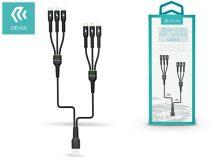 Devia USB töltő- és adatkábel 1 és 2 m-es vezetékkel - Devia Storm 6in1 for Lightning/micro USB/Type-C USB 2.4A - black