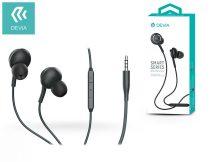 Devia univerzális sztereó felvevős fülhallgató - 3,5 mm jack - Devia Smart Series Wired Earphone EM20 - black
