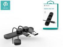 Devia mágneses kábelrögzítő pad - Devia Magnetic Cable Fixer - black