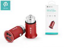 Devia Dual USB szivargyújtós töltő adapter - 5V/3,4A - Devia Pheez Series Mini Car Charger - red