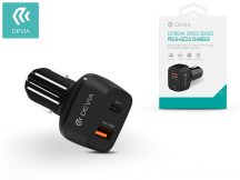 Devia szivargyújtós töltő adapter USB + Type-C bemenet - 5V/3A - Devia Extreme Speed Series PD3.0 + QC3.0 - Qualcomm Quick Charge 3.0 - black