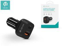 Devia szivargyújtós töltő adapter USB + Type-C bemenet - 5V/3A - Devia Extreme Speed Series PD3.0 + QC3.0 - Qualcomm Quick Charge 3.0 - black