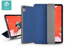 Apple iPad Pro 11 (2018) védőtok (Smart Case) Apple Pencil tartóval - Devia Leather Case V2 - blue