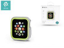 Apple Watch 4 védőtok - Devia Dazzle Series 44 mm - ezüst/neon zöld