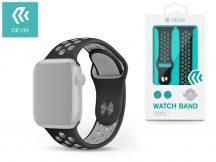Apple Watch lyukacsos sport szíj - Devia Deluxe Series Sport2 Band - 42/44 mm - black/gray