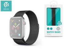 Apple Watch fém szíj - Devia Elegant Series Milanese Loop - 38/40 mm - space black
