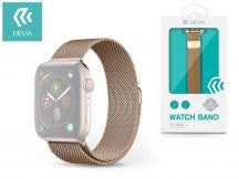 Apple Watch fém szíj - Devia Elegant Series Milanese Loop - 42/44 mm - gold