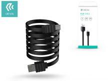 Devia USB töltő- és adatkábel 1 m-es lapos vezetékkel - Devia Flat Cable Type-C USB 2.0 - black
