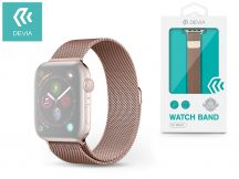 Apple Watch fém szíj - Devia Elegant Series Milanese Loop - 38/40 mm - rose gold