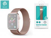 Apple Watch fém szíj - Devia Elegant Series Milanese Loop - 42/44 mm - rose gold