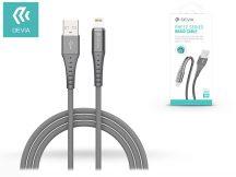 Apple iPhone Lightning USB töltő- és adatkábel 1 m-es vezetékkel - Devia Pheez Series Braid Cable Lightning USB 2.1 - silver