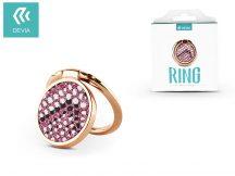 Devia ring holder/szelfi gyűrű és kitámasztó - Devia Finger Hold Diamonds-2 - pink
