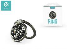 Devia ring holder/szelfi gyűrű és kitámasztó - Devia Finger Hold Diamonds - black