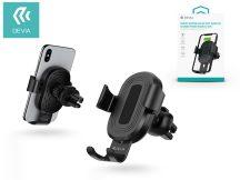 Devia szellőzőrácsba illeszthető vezeték nélküli autós töltő/tartó - 5V/2A - Devia Sensor Car Air Vent Wireless Charger Phone Holder - 10W - Qi szabványos