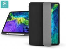 Apple iPad Pro 11 (2020) védőtok (Smart Case) Apple Pencil tartóval - Devia Leather Case - black