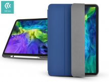 Apple iPad Pro 11 (2020) védőtok (Smart Case) Apple Pencil tartóval - Devia Leather Case - blue