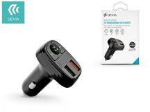 Devia Bluetooth FM-transmitter/szivargyújtó töltő - 2xUSB + MP3/WMA/WAV/Flac + Pendrive/TF-kártyaolvasó - Devia Smart Series - black