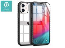 Apple iPhone 12 Mini ütésálló hátlap - Devia Shark-4 Series Shockproof Case - black/transparent