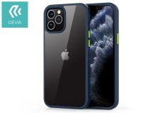 Apple iPhone 12/12 Pro ütésálló hátlap - Devia Shark Series Shockproof Case - blue/transparent