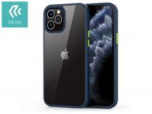 Apple iPhone 12 Pro Max ütésálló hátlap - Devia Shark Series Shockproof Case - blue/transparent