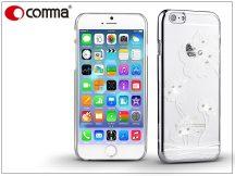 Apple iPhone 6/6S hátlap Swarovski kristály díszitéssel - Comma Crystal Flora - silver
