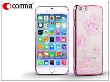 Apple iPhone 6/6S hátlap Swarovski kristály díszitéssel - Comma Crystal Flora - rose pink