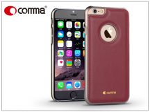 Apple iPhone 6/6S valódi bőr hátlap - Comma Icon - red