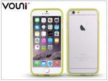 Apple iPhone 6/6S szilikon hátlap - Vouni Duo - crystal white/lime