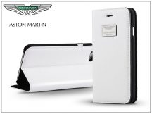 Apple iPhone 6 Plus/6S Plus valódi bőr flipes tok - Aston Martin Racing Folio Book Case - white