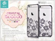 Apple iPhone 6/6S hátlap Swarovski kristály díszitéssel - Devia Crystal Rococo - gun black