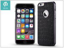 Apple iPhone 6/6S valódi bőr hátlap - Devia Gallery - true black