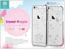 Apple iPhone 6/6S hátlap Swarovski kristály díszitéssel - Devia Crystal Magpie - silver