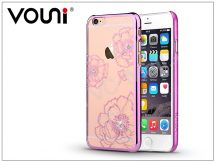 Apple iPhone 6/6S hátlap kristály díszitéssel - Vouni Crystal Bloom - rose pink